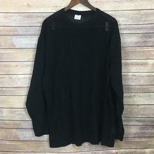 Urban Outfitters Black Mesh Sweater